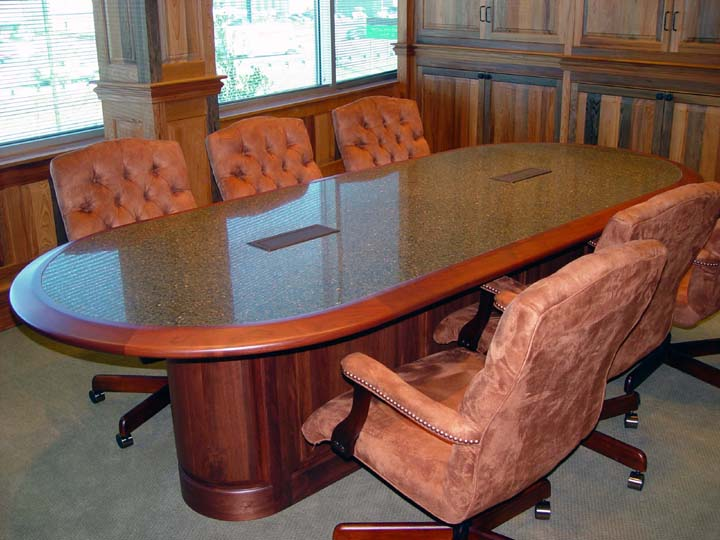 Custom Conference Room table and wall paneling