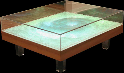 Custom Table Created For Dawn Dedeaux Hurricane Art. The Table Features An  Acrylic Top And Legs, Cypress Base, And Internal White Plexiglas U0026 Lighted  Art ...