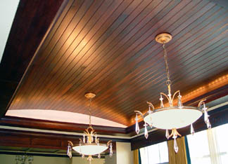 Cherry wood barrel ceiling at Presidential Suite