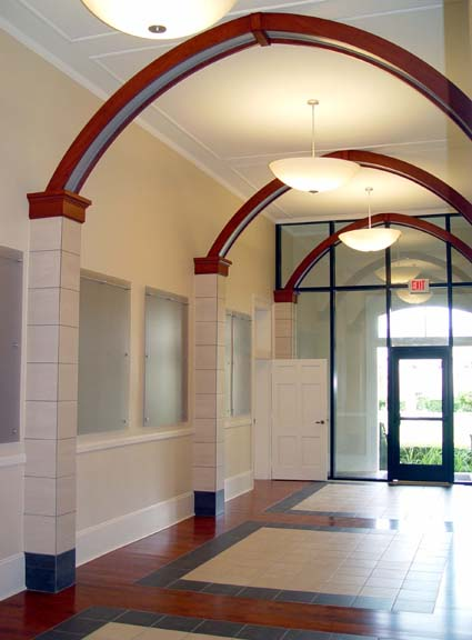 Cherry and 3Form arches at Lobby 122