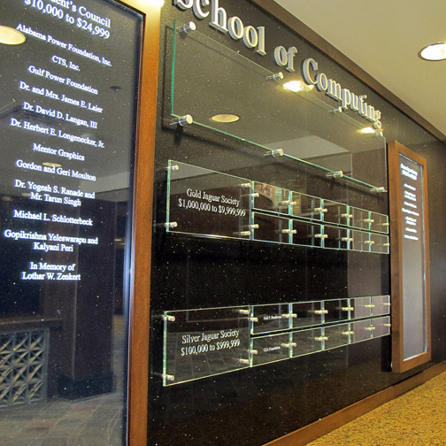 Donor Recognition, Dimensional lettering, Signage